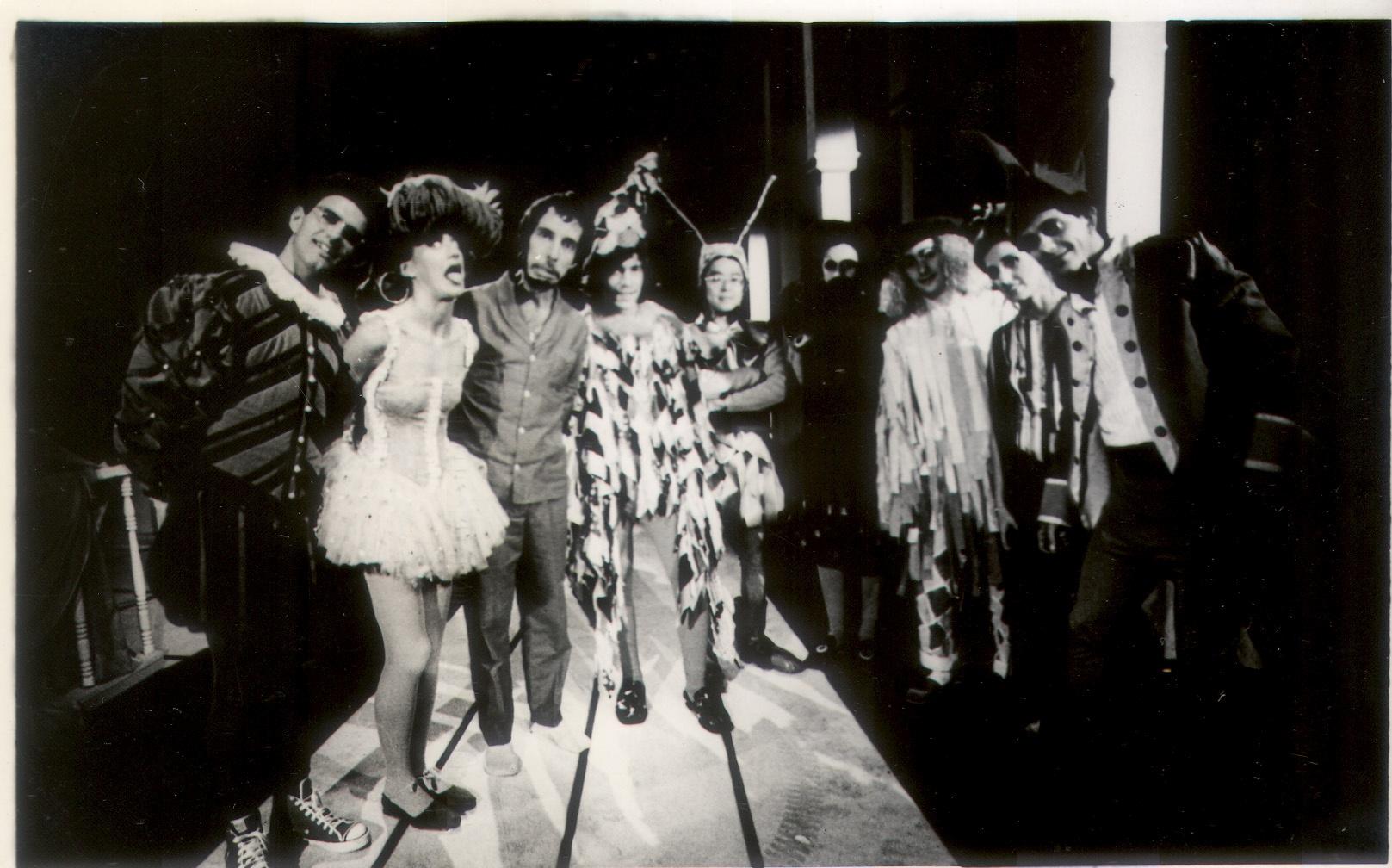O Grupo Rumo em estúdio da TV Cultura em 1984. Foto: Acervo / Grupo Rumo.